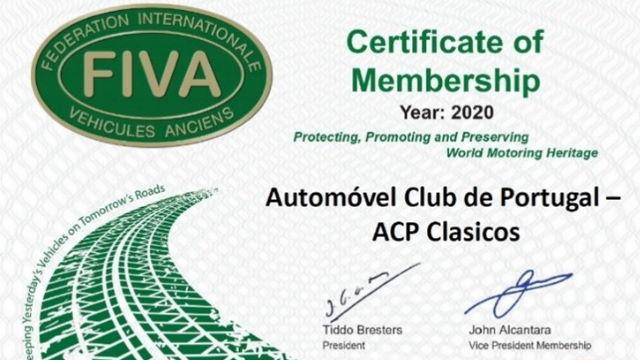 Certificado membro FIVA