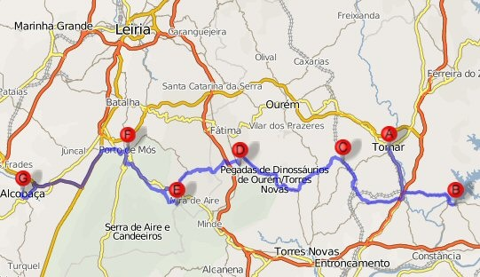 mapa ic9 Rede de Mosteiros Património da Humanidade mapa ic9